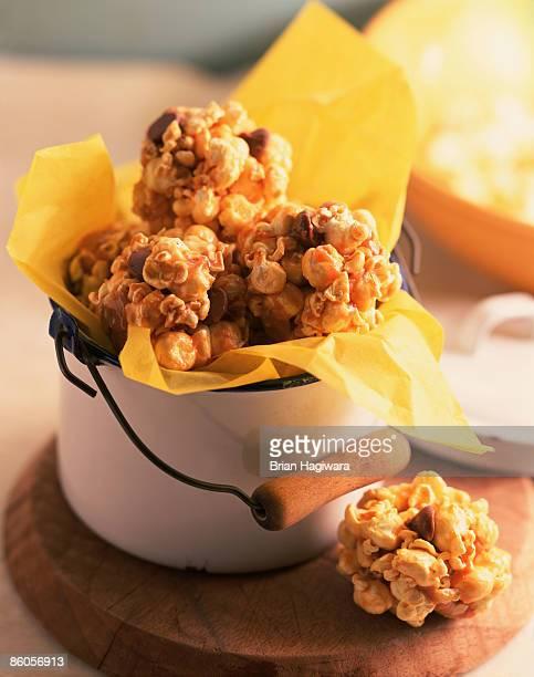 Popcorn balls in tin