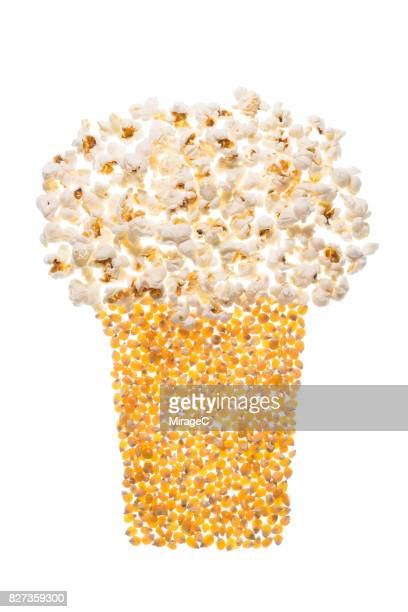 Popcorn Box made of Corn Grains