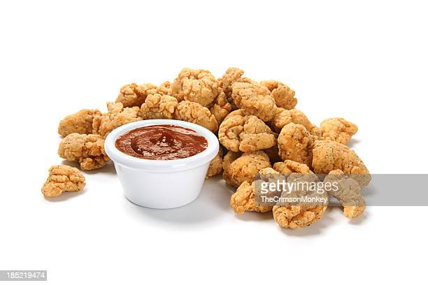 Popcorn Chicken with Barbecue Sauce