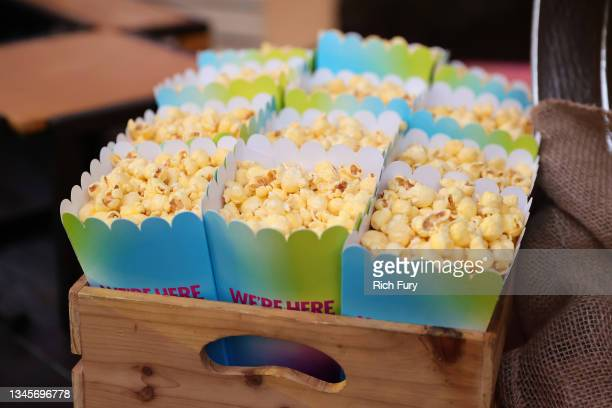 """Popcorn is seen during the """"We're Here"""" Season 2 Premiere at Sony Pictures Studios on October 08, 2021 in Culver City, California."""
