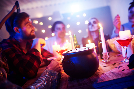 Popcorn on table at a Halloween party - gettyimageskorea