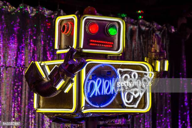 Popcorn Robot at the Robot Restaurant in Kabukicho Shinjuku where robotic women and demons stage mock battles in this steroid heavy attraction with...