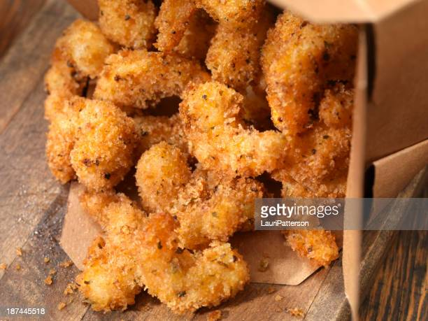 popcorn shrimp - breaded stock photos and pictures