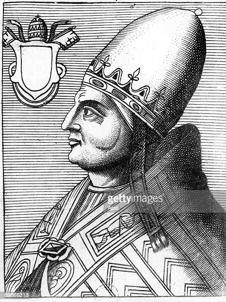 Pope Alexander III pope from 1159 to 1181 engraving