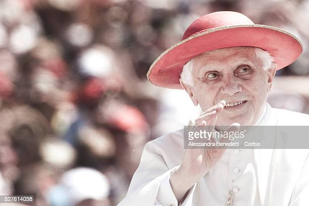 Pope Benedict attends a special audience with 500000 altar boys in St Peter's Square at the Vatican