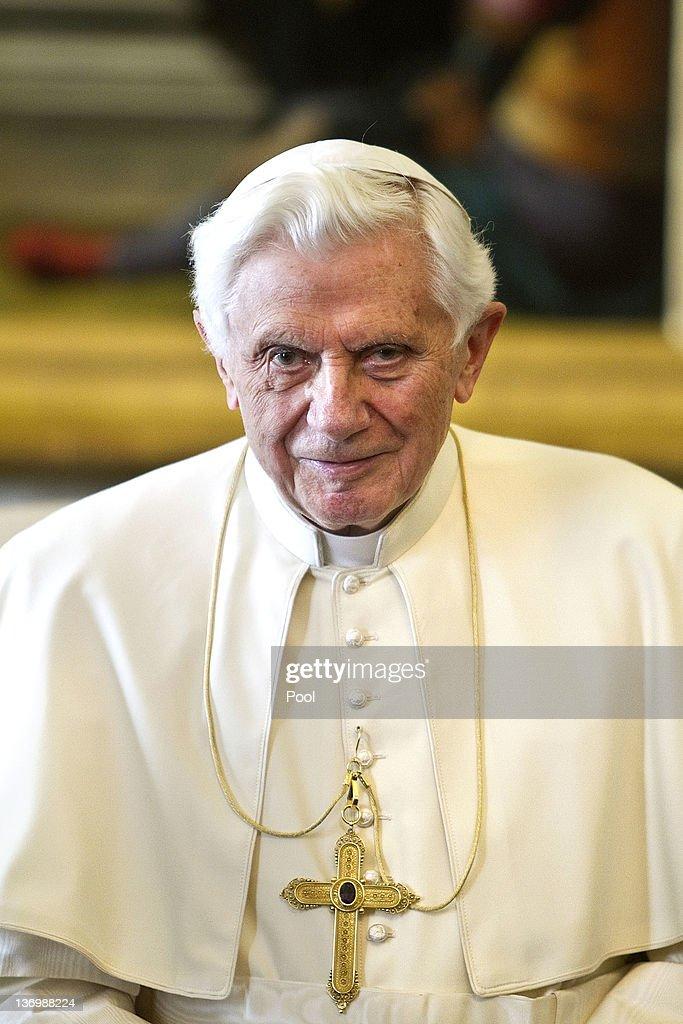 Pope Benedict XVI Meets Italian Prime Minister Mario Monti