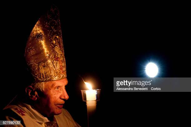 Pope Benedict XVI Celebrates Easter Vigil Mass in St Peter's Basilica at the Vatican