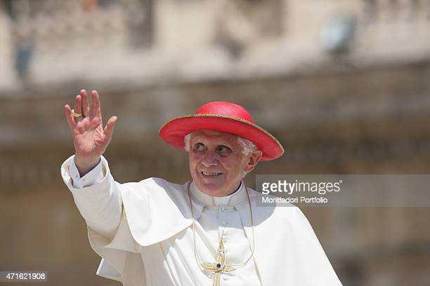 'Pope Benedict XVI delivering the general audience on Saint Peter's Square Vatican City 4th August 2010 '