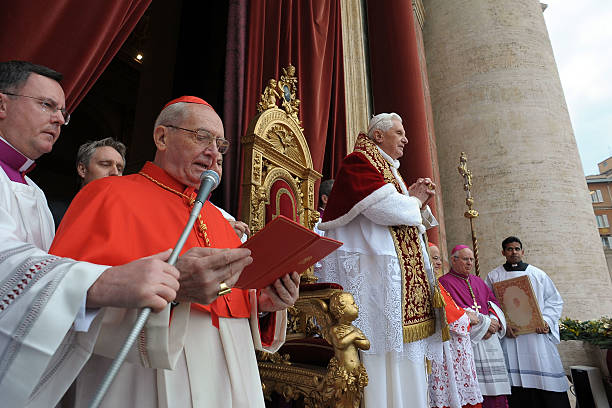 Pope Benedict XVI Delivers His Christmas Urbi Et Orbi Blessing From The Central Balcony Of St