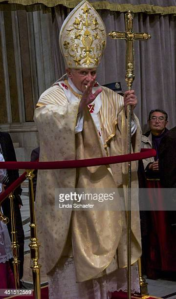 CONTENT] Pope Benedict XVI gives his last Christmas Eve Mass at St Peter's Cathedral on December 24 2012
