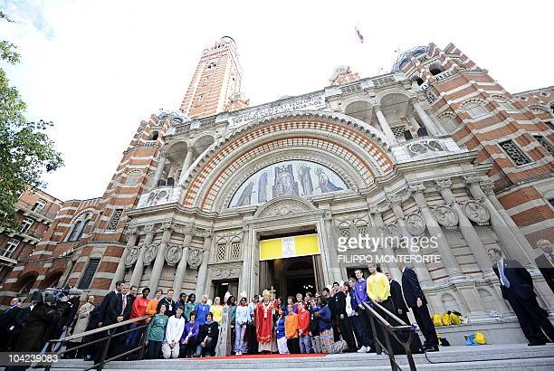 Pope Benedict XVI greets the crowds gathered outside Westminster Cathedral in London on September 18 after presiding over a Mass Pope Benedict XVI is...