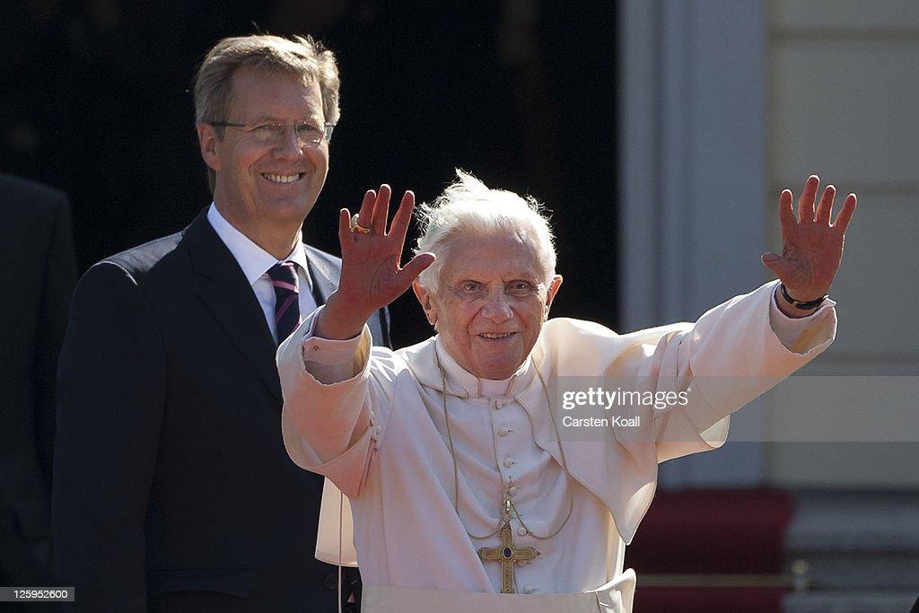 Pope Benedict XVI Visits Berlin : News Photo