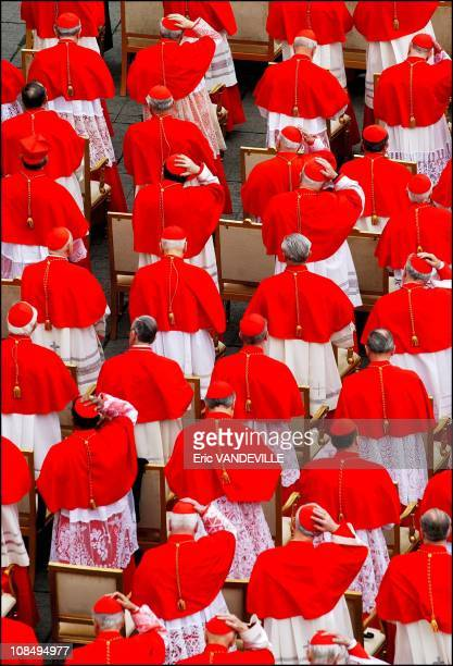 Pope Benedict XVI installs 15 new cardinals in a colorful ceremony in St Peter's Square making his initial selection of those who will one day choose...