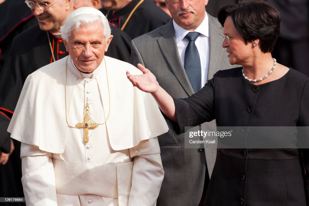 Pope Benedict XVI Visits Erfurt : News Photo