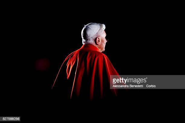 Pope Benedict XVI leads his first Via Crucis the way of the Cross part of the solemn celebrations of Easter's Holy Week at the Roman Colisseum in...