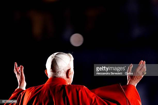 Pope Benedict XVI leads his first Via Crucis way of the Cross part of the solemn celebrations of Easter's Holy Week at the Roman Colisseum in central...