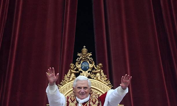 Pope Benedict XVI Leads His Urbi Et Orbi To The City And World
