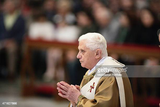Pope Benedict XVI praying during the Holy Mass at St Peter's Basilica on the occasion of the Epiphany Vatican City 2007