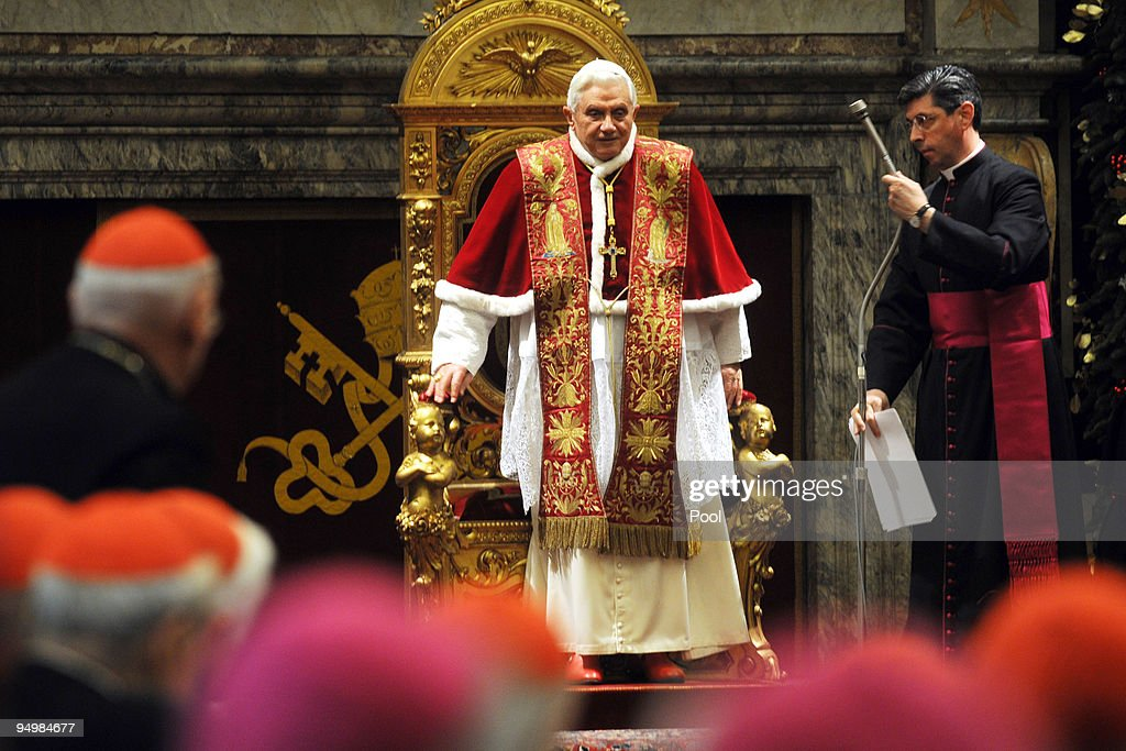 Pope Benedict XVI Receives The Roman Curia
