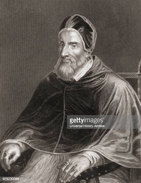 Pope Clement VII 1478 – 1534 born Giulio di Giuliano de' Medici From The History of the Popes Their Church and State published 1853