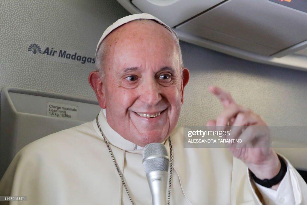 MADAGASCAR-AFRICA-POPE-VATICAN-RELIGION : News Photo