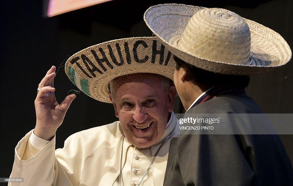 BOLIVIA-POPE : News Photo