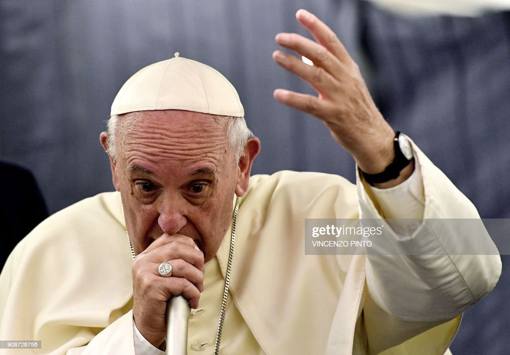 TOPSHOT-VATICAN-POPE-CHILE-PERU-TRIP : News Photo