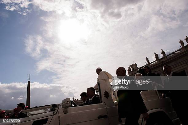 Pope Francis arrives for his weekly general audience in St Peter's Square at the Vatican Wednesday April 27 2016