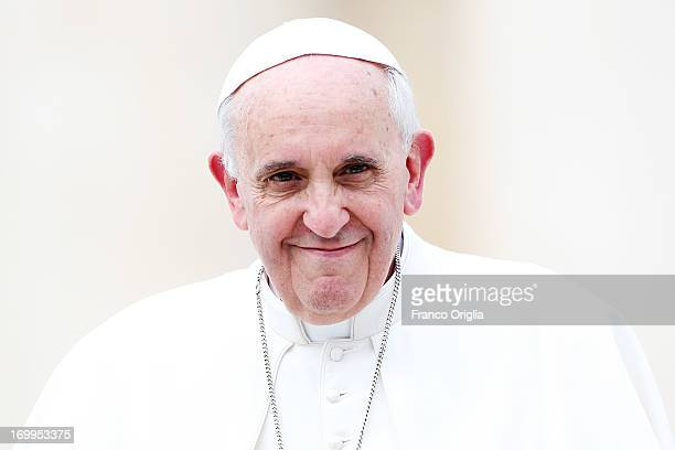 Pope Francis attends his weekly audience in St Peter's Square on June 5 2013 in Vatican City Vatican This Wednesday Pope Francis dedicated his...
