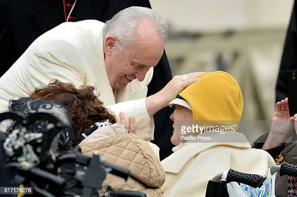 Pope Francis celebrated the General Audience a week before Easter During the Audience Pope Francis recalled the victims of the attacks that have...