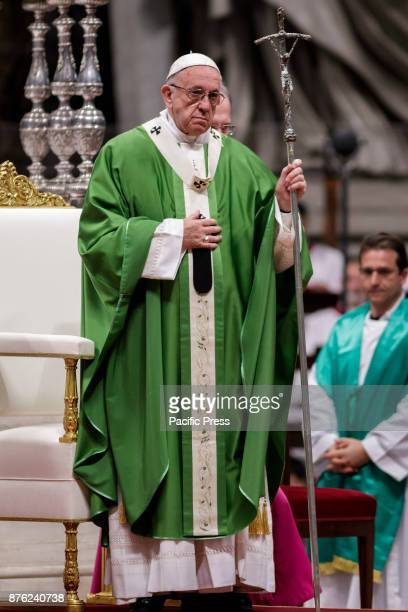 S BASILICA VATICAN CITY VATICAN Pope Francis celebrates a mass on the occasion of the first World Day of the Poor in St Peter's Basilica in Vatican...