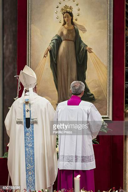 Pope Francis celebrates a new year's Mass in Saint Peter's Basilica. Pope Francis has condemned the deadly New Years Eve terror attack on a nightclub...