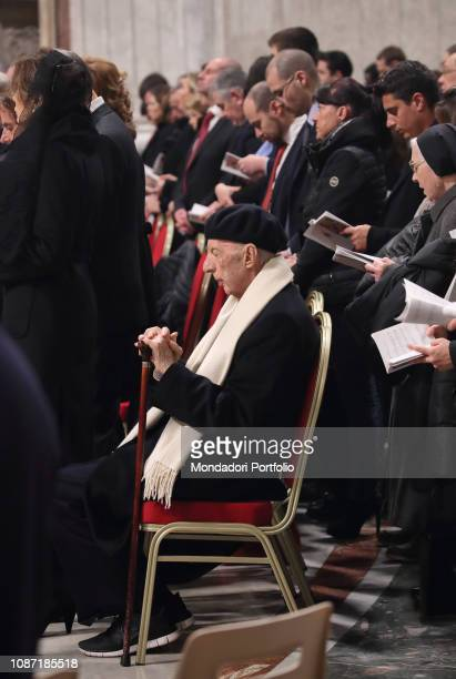 Pope Francis celebrates Christmas Eve Mass at St Peter's Basilica In this photo Sforza Marescotto Lillo Ruspoli Vatican City December 24th 2018