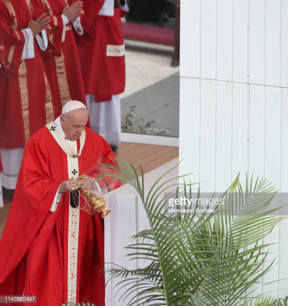 Pope Francis celebrates Holy Mass on Palm Sunday and the Passion of the Lord in St Peter's Square Vatican City April 14th 2019