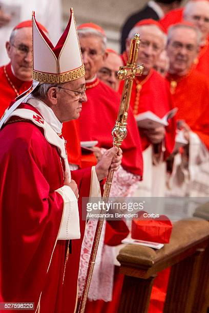Pope Francis Celebrates the Solemnity of Saint Peter and Saint Paul in St. Peter's Basilica at the Vatican.On this occasion Pope Francis imposed the...