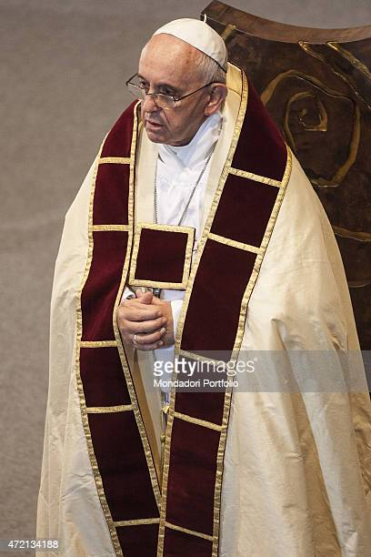 'Pope Francis chairing the Vespers for the 200th anniversary of the restoration of the Society of Jesus Vatican City 27th September 2014 '