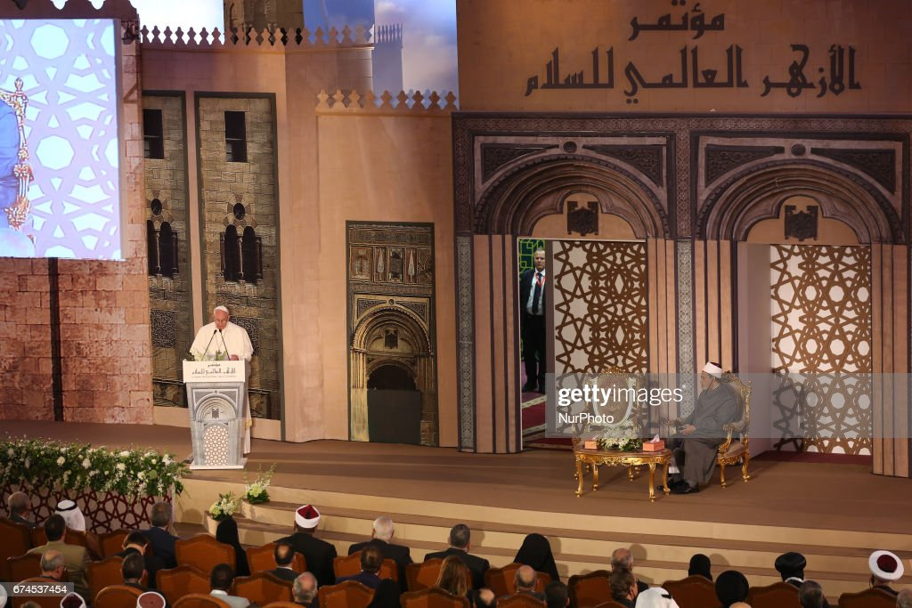 Pope Francis on official visit to Egypt : News Photo