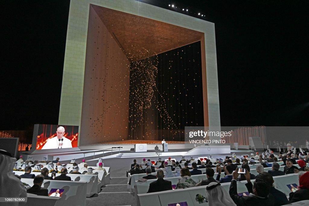 UAE-VATICAN-RELIGION-POPE-ISLAM : News Photo