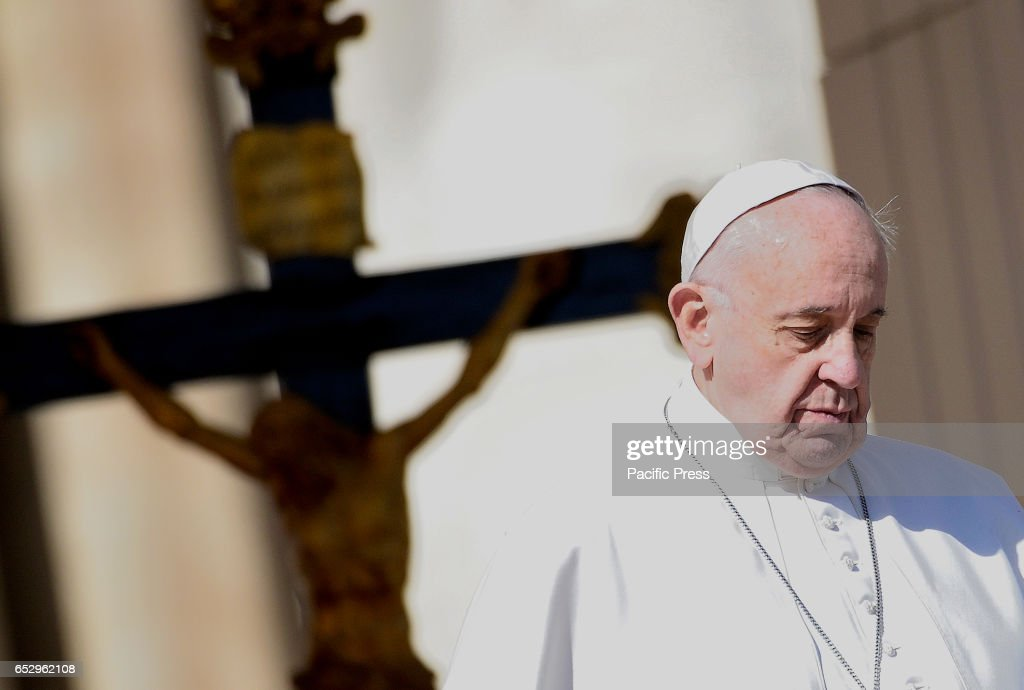 Pope Francis during the Wednesday General Audience in St. Peter's Square.