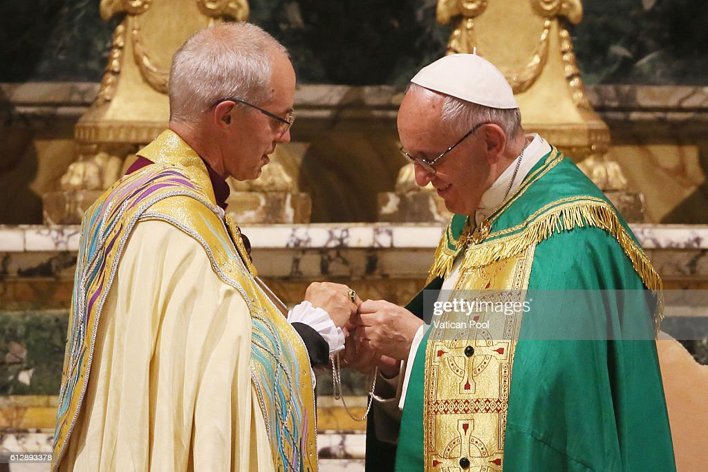 Pope Francis Holds Vespers Service In Rome With Archbishop Of Canterbury Justin Welby