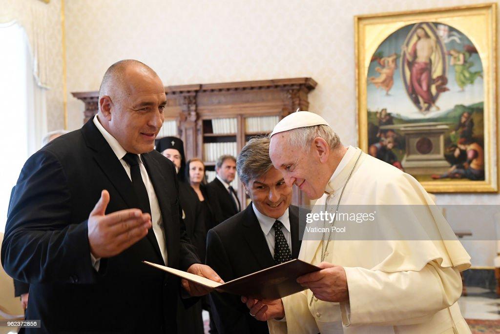 Pope Francis Meets Bulgaria Prime Minister Bojko Borisov