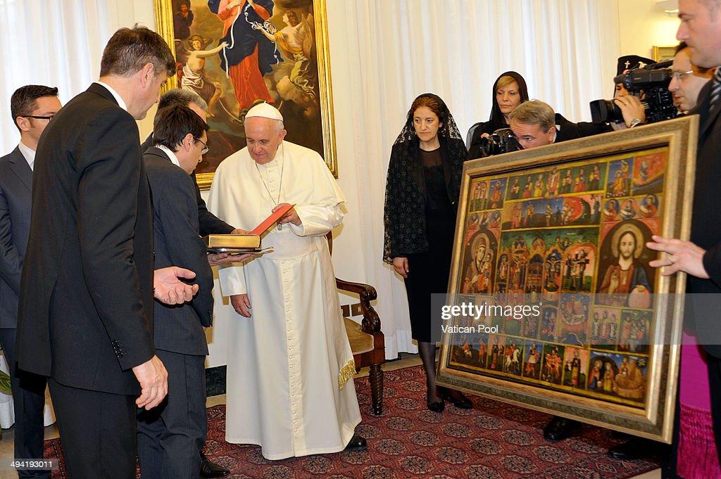 Pope Francis Meets President Of Bulgaria Rosen Plevneliev
