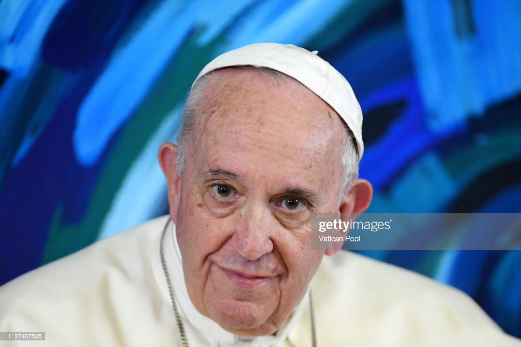 Pope Francis Visits Scholas Occurentes Foundation : News Photo