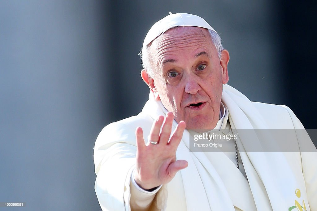 Pope Francis holds his weekly audience in St. Peter's Square on December 11, 2013 in Vatican City, Vatican. Pope Francis has been named Time magazine's Person of the Year, succeeding Barack Obama.