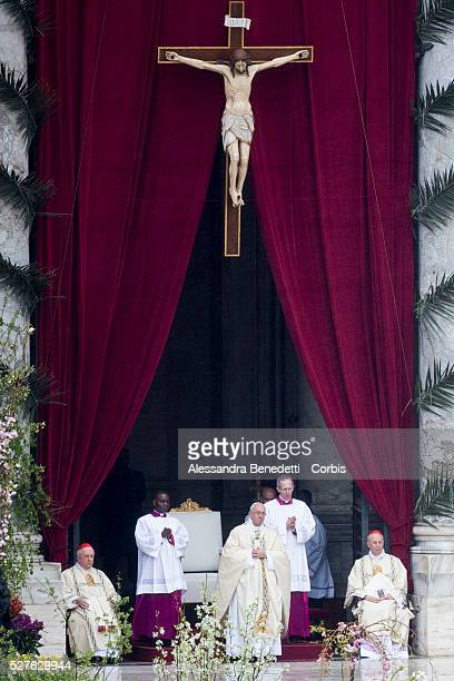 Pope Francis leads Easter Mass in St Peter's Square at the VaticanTens of thousands of people gathered in Saint Peter's Square on Sunday morning...