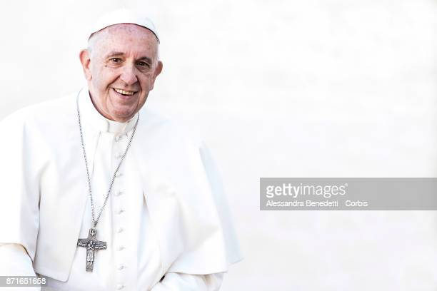 Pope Francis leads his general weekly audience on November 8 2017 in Vatican City Vatican
