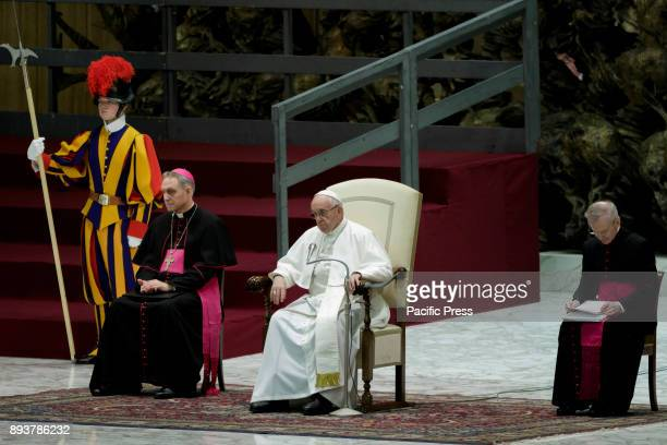 Pope Francis leads his Weekly General Audience in Paul VI Hall in Vatican City Vatican