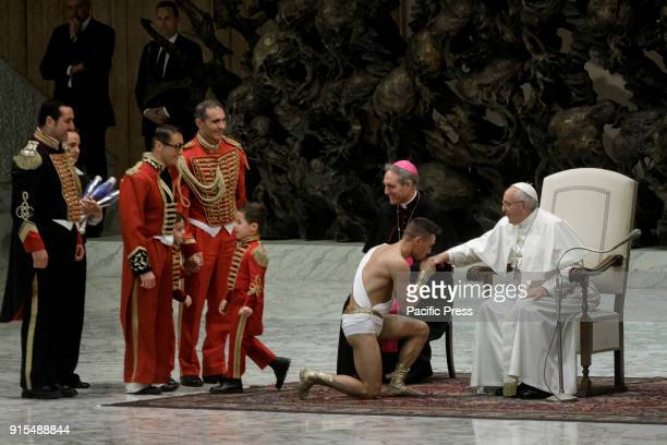 Pope Francis leads his Weekly General Audience in Paul VI Hall in Vatican City