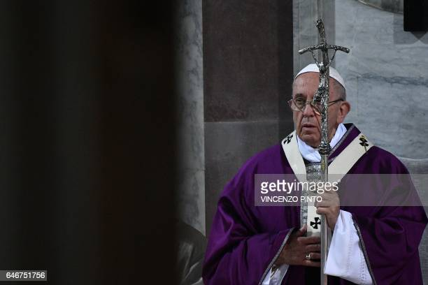 Pope Francis leads the Ash Wednesday mass opening Lent the fortyday period of abstinence and deprivation for Christians before Holy Week and Easter...