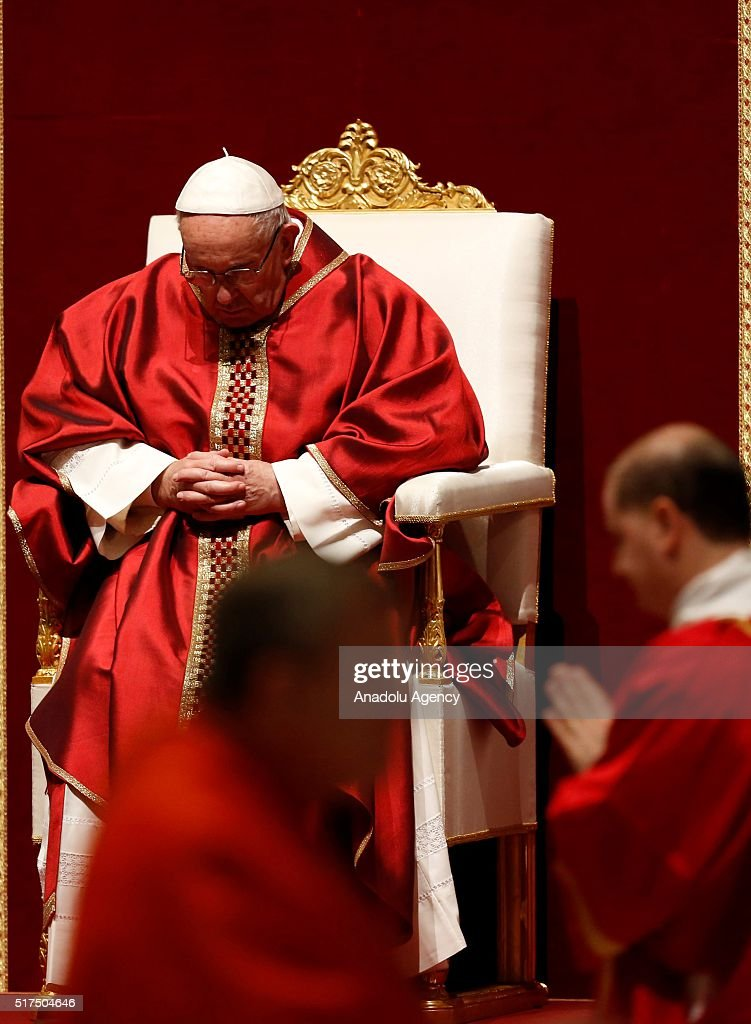 Pope Francis Leads The Celebration Of The Lord's Passion